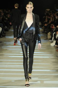 Black leather pants & blazer at Alexandre Vauthier Spring Summer Couture 2013 #HauteCouture  #HC #Fashion