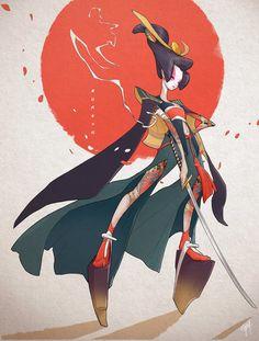 Character Design Challenge: Onna-bugeisha by engkit on DeviantArt