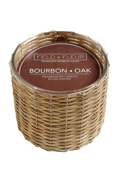 This fragrance features a base notes of smoky, rich bourbon, and top notes of moss and citrus.    Burn time 85+ hours   Bourbon Oak Candle by RENDR. Home & Gifts - Home Decor - Candles & Scents Home & Gifts - Gifts - Scents & Bath Texas