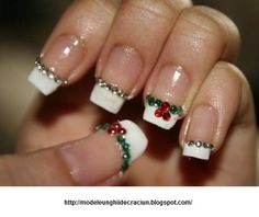 Modele unghii de Craciun: Simple designs for Christmas nails