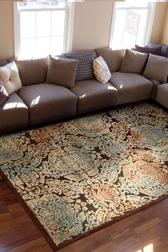 Scottish Moors High/Low Carved Rug - Brown