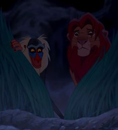 Simba and Rafiki You see? He lives in you. - The Lion King