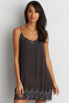 American Eagle Outfitters AE Corded Lace Slip Dress