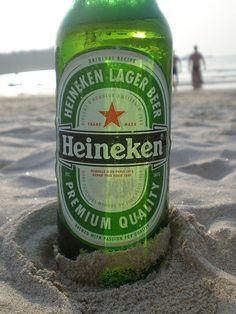 Heineken on the beach
