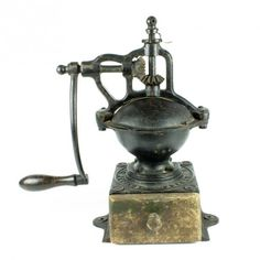 la Bodega Antiques. Antique Coffee Grinder French PEUGEOT FRERES A1 Cast Iron hand crank model A1.