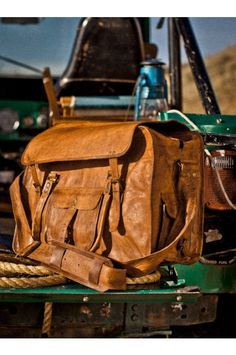 Tough and Rugged Roosevelt Camel Leather Weekend Bag