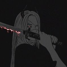 She's mad, at least that's what they say on We Heart It Art Anime, Anime Art Girl, Manga Art, Manga Anime, Aesthetic Anime, Aesthetic Art, Art Triste, Dark Anime Girl, Character Art