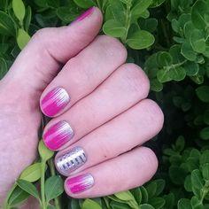 Jamberry Nail Wraps. Gone Dancing, Diamond Dust Sparkle & Metallic Silver Pinstripe. Shop now: Megecon.JamberryNails.Net