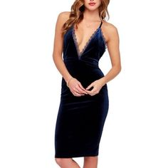 firm saleBlack Sexy Velvet Dress Super sexy black dress. Drop V neck with cross strap on the back for a sexy appeal all over. Stretch material. Bought at a local boutique size is true to size my measurements (34C•28•31) no trades. Boutique Dresses Backless