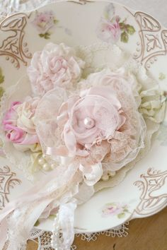 Beautiful Pink and Ivory Gillyflower Handmade by Jennelise Rose