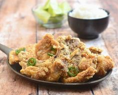 Salt and Pepper Pork Chops are marinated in egg white and cornstarch, deep-fried and then tossed in salt and peppers.
