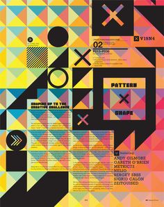 IdN v19n4: Shapes-in-Pattern by IdN Magazine , via Behance