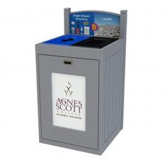 TRH51-2: #CommercialRecycling bin designed for indoor and outdoor construction. It supports up to 4 separate types of waste and recyclables. #CampusRecycling #OfficeRecycling