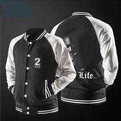 2017 new free shipping baseball jacket Tupac Amaru Shakur Sweatshirts no hat,The highest quality, USA size. #Affiliate
