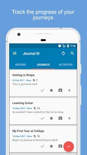 Journal it! makes journaling on mobile never easier by securing your data, keeping everything organized, and providing the easiest way to start a new entry