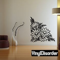 Flower Wall Decal - Vinyl Decal - Car Decal - Large 001