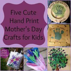 Cute DIY Hand Print Mother's Day Crafts - Pretty Opinionated Mothers Day Crafts Preschool, Fathers Day Crafts, Diy Crafts For Kids, Projects For Kids, Summer Crafts, Holiday Activities, Holiday Crafts, Holiday Fun, Handprint Art