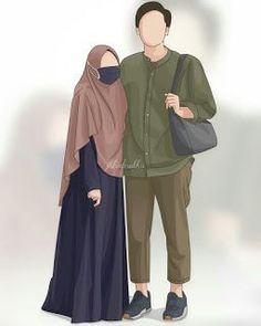 kumpulan kartun romantis parf 3 - my ely Cute Muslim Couples, Muslim Girls, Muslim Women, Cute Couples, Cover Wattpad, Hijab Drawing, Moslem, Islam Marriage, Islamic Cartoon