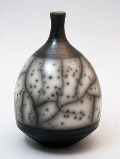 Ceramics by Chris Hawkins at Studiopottery.co.uk - 2012. Naked Raku bottle