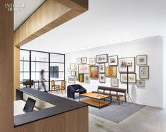 Morris Adjmi's Office Doubles as a Rotating Art Gallery via INTERIOR DESIGN