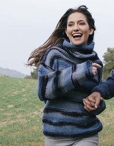 Book Beginners 5 Autumn / Winter | 20: Woman Sweater | Blue-Black