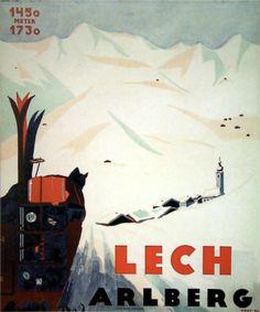 vintage ski poster - Lech Frey