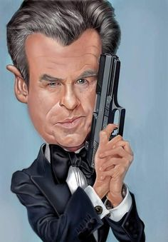 Pierce Brosnan as James Bond.