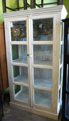 "Tall Display Cabinet  HW1061 - $1087  45.5""W X 20.5""D X 79""H  #NadeauNashville"