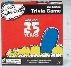 The Simpsons Trivia Board Game Anniversary Fan Edition Bart Homer New The Simpsons, Gifts For Dad, Fathers Day Gifts, Great Gifts, N Game, Trivia Games, 25th Anniversary, Board Games