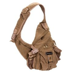 Unisex Steampunk Military Army Surplus Canvas Crossbody Sling ...