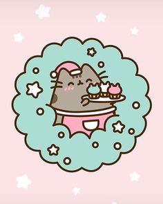 Kawaii Cute Wallpapers, Kawaii Wallpaper, Iphone Wallpaper, Chat Kawaii, Kawaii Cat, Cute Animal Drawings Kawaii, Cute Cartoon Drawings, Pusheen Stickers, Cute Stickers