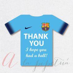 Thank You Favor Tags .Barcelona printable. Printable by Pipetua