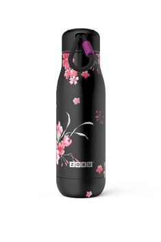 Stainless Steel Midnight Floral Bottle from Zoku