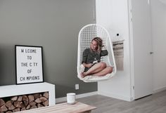 Binnenkijken bij Lucienne - My Simply Special Hanging Chair, Interior Inspiration, Home Goods, New Homes, Sweet Home, Lounge, Living Room, Interior Design, Furniture