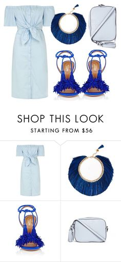 """""""Untitled #139"""" by amanihalaly on Polyvore featuring Topshop, Rosantica, Aquazzura and Tory Burch"""