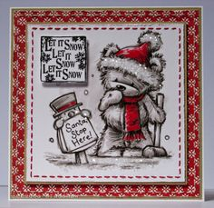 LOTV - Art Pad 15 Furry Christmas with Simple Joys papers and sentiment from Christmas Grungy Messages by Rebecca Bradshaw