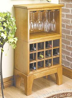 wine cabinet woodworking plan. Base plans are great because you can change any details you'd like to make it your own style.