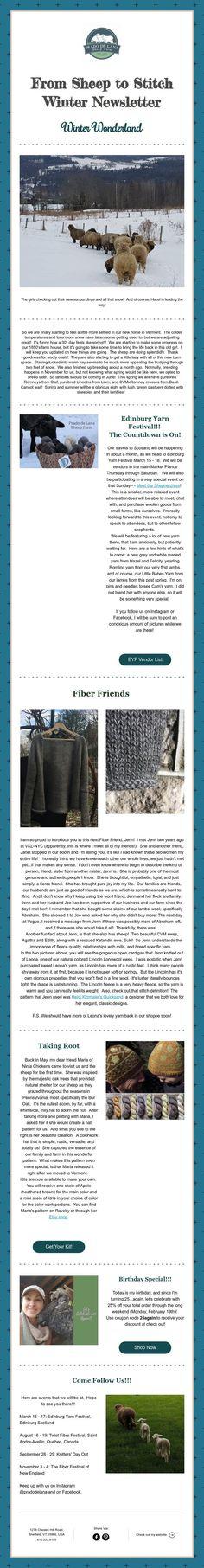 From Sheep to Stitch Winter Newsletter Winter Wonderland