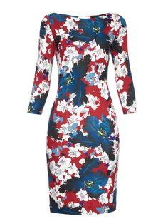 Erdem Reese Ohana-print jersey dress