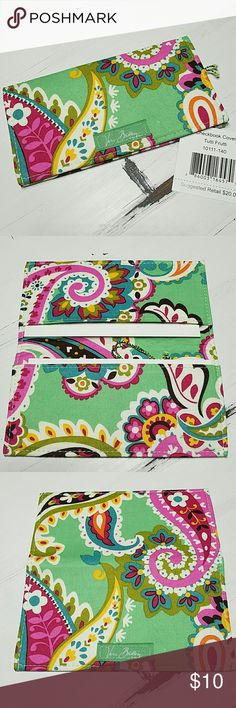 SALE! Vera Bradley  Checkbook Cover or Slim Wallet Perfect condition, never used, with retail tag! Includes the original 2 cardboard inserts as shown in 2nd photo.  Retired TUTTI FRUTTI pattern   * Looking for more Vera Bradley items, visit my closet.  * 10% OFF BUNDLES! * FAST SHIPPING! Vera Bradley Bags Wallets