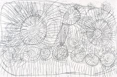 Rosie Tasman Napurrurla (Warlpiri), Ngurlu Jukurrpa ('Grass Seed; Bush Grain Dreaming'), 2002, line etching on Hahnemuhle paper. Warnayaka Art Center; Aboriginal Art Prints Network, Sydney