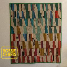 The Arne Quilt - the original by r0ssie, via Flickr.  Her pattern is in the Spring 2013 issue of Modern Quilts Unlimited #modern #quilt