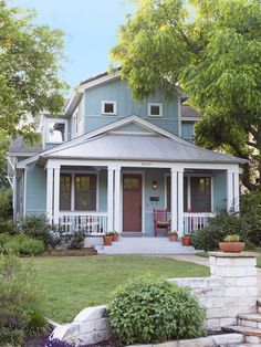 Solar panels installed on this home drastically reduced the owner's electric bill. One December, they owed just 49 cents! #hgtvmagazine http://www.hgtv.com/landscaping/copy-the-curb-appeal-austin-tx/pictures/page-23.html?soc=pinterest