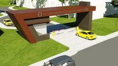 Gate Wall Design, Main Gate Design, House Gate Design, Gate House, Entrance Design, Entrance Gates, Main Entrance, Carport Designs, Garage Design