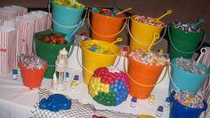Ideas For Birthday Party Beach Theme Dessert Tables Cake Table Birthday, Birthday Cakes For Men, 21st Birthday, Birthday Parties, Birthday Ideas, Water Birthday, Birthday Gifts, Hawaiian Candy, Hawaiian Theme
