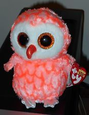"Ty Beanie Boos - CORA the 6"" Owl ~ Justice Exclusive ~2016 NEW MINT w/ MINT TAGS"