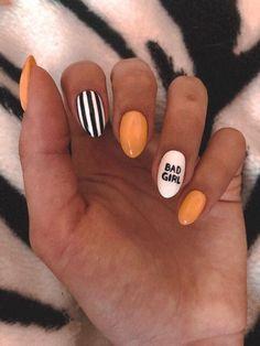 Summer nails, nails are, nails design, trendy nails. nail designs for summer short nail designs 2019 self adhesive nail stickers nail art stickers at home best nail polish strips 2019 Summer Acrylic Nails, Best Acrylic Nails, Summer Nails, Matte Nail Art, Yellow Nail Art, Red Nail, Nail Nail, Fire Nails, Dream Nails