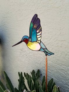 Your place to buy and sell all things handmade Custom Stained Glass, Stained Glass Flowers, Fused Glass Art, Glass Garden, Mosaic Garden, Bird Silhouette, Thing 1, Glass Butterfly, Rustic Art