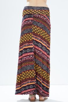Юбка-макси Размеры: S, M, L Цвет: черный с принтом Цена: 1190 руб.  #одежда #женщинам #юбки #коопт
