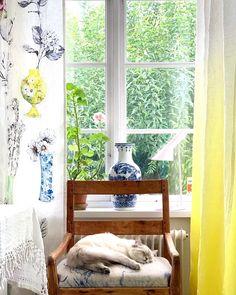 Glad, Designers Guild, Curtains, Interior, Color, Instagram, Home Decor, Text Posts, Blinds